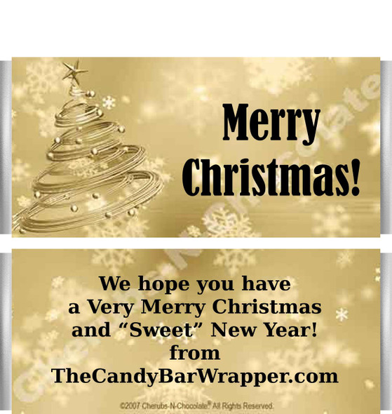Gold Christmas Candy Wrappers