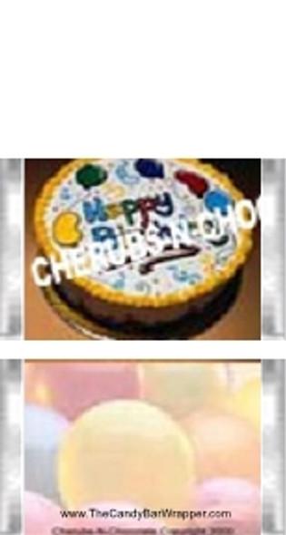 Mini Birthday Candy Bars