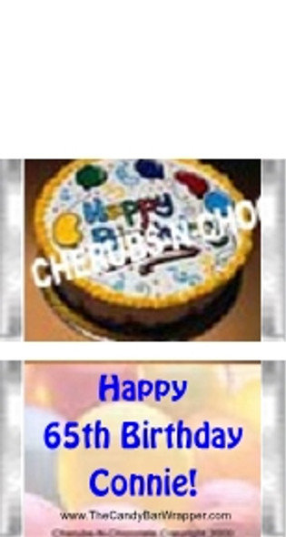 Mini Birthday Candy Bars Sample