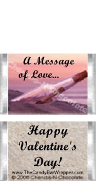 Mini Message in a Bottle Candy Bars Sample