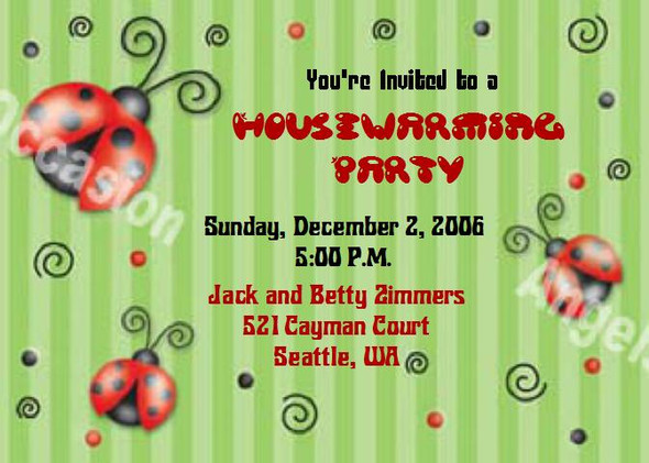 Lady Bug Invitations Sample