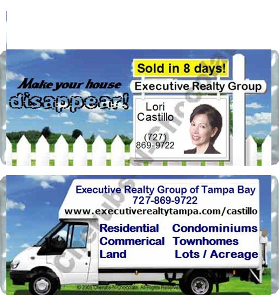 Realtor Sign Candy Wrappers Sample