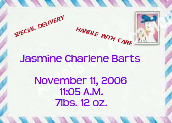 Birth Announcement Cards Sample