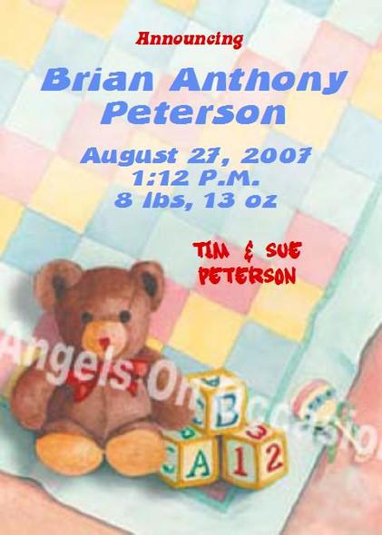 Custom Baby Shower Invitations Sample