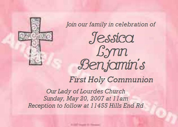 Baptism Invitations Sample