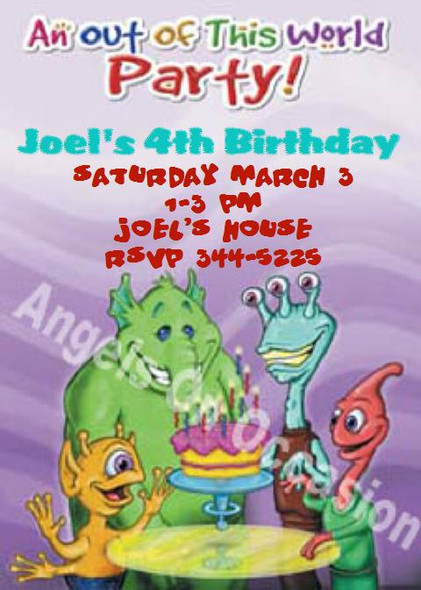 Kids Birthday Invitations Sample