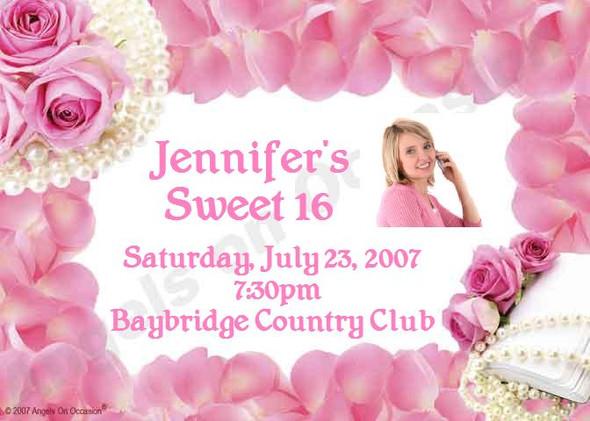 Sweet Sixteen Invitations Sample