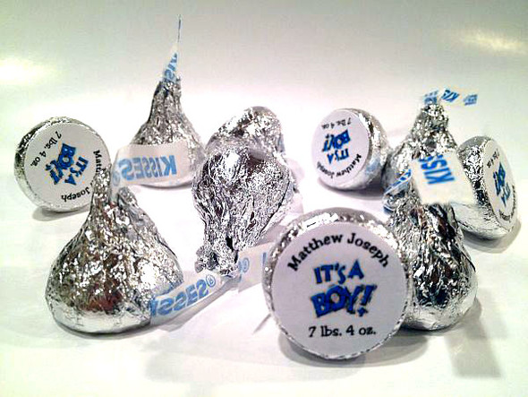 Birth Announcement Personalized Hershey's Kisses