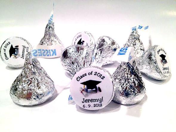 Graduation Personalized Hersheys Kisses (96 per set)