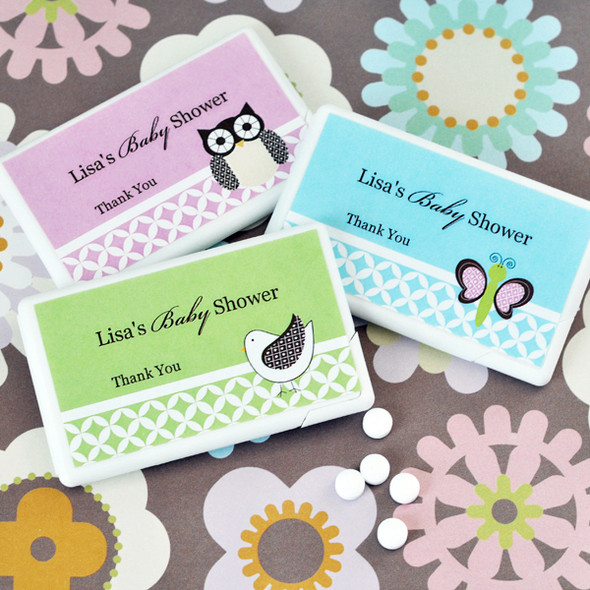 Baby Animal Personalized Mini Mint Favors