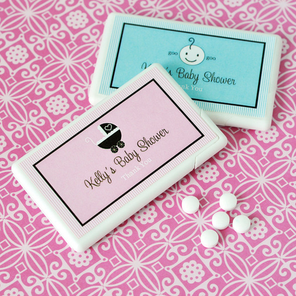 Personalized Baby Shower Mini Mint Favors