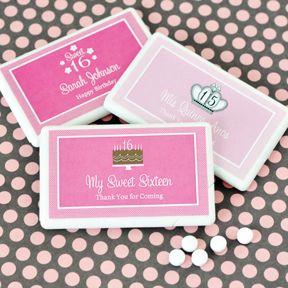 Sweet Sixteen Mini Mint Favors