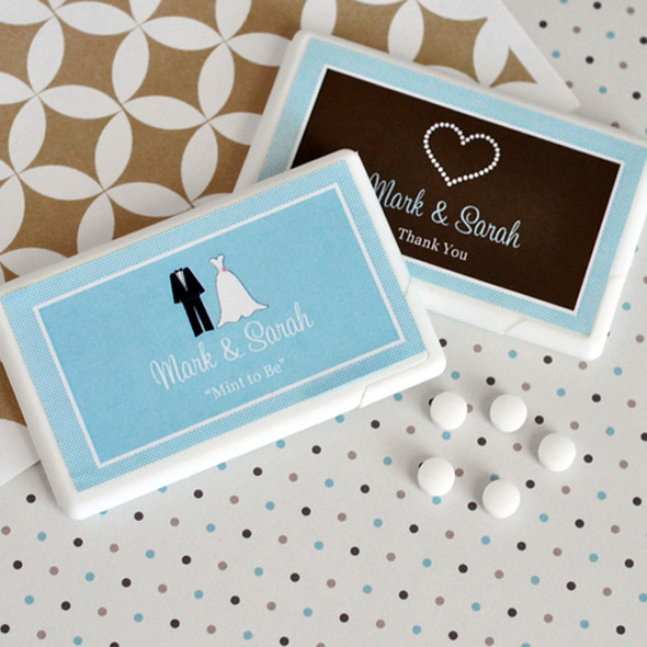 Theme Personalized Wedding Mini Mint Favors