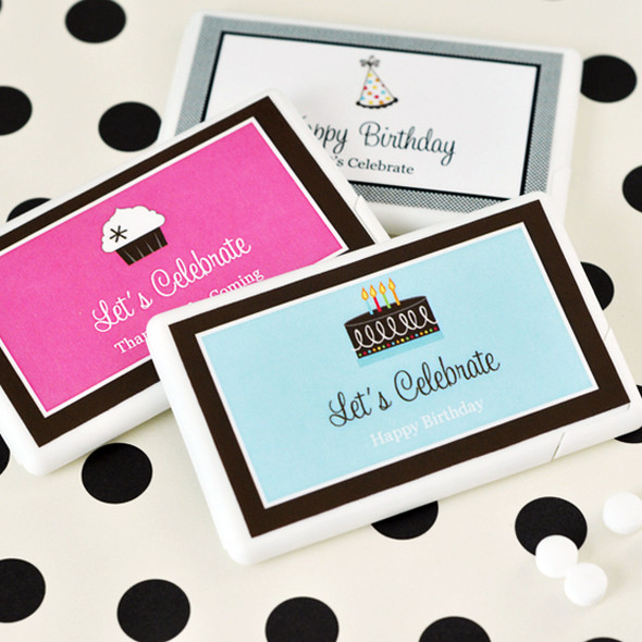 Personalized Birthday Mini Mint Favors
