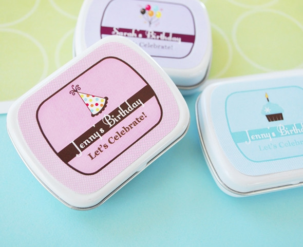 Personalized Birthday Mint Tins