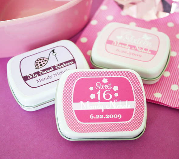 Sweet Sixteen Personalized Mint Tins