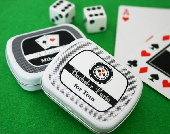 Vegas Themed Personalized Mint Tins
