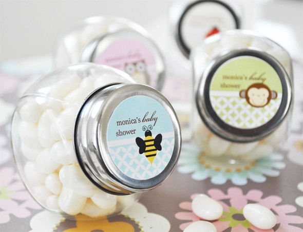 Baby Animal Personalized Candy Jar Favors