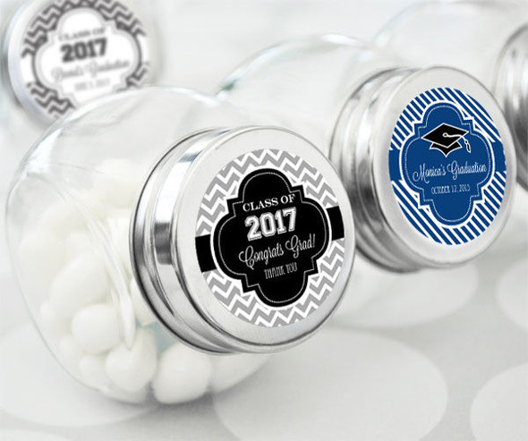 Personalized Graduation Candy Jars