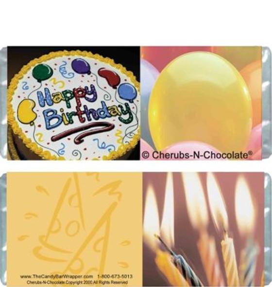 Birthday Cake Candy Bars