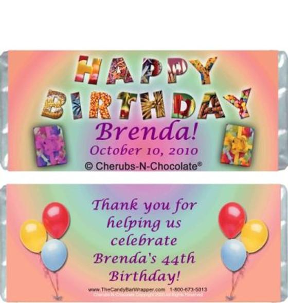 Birthday Joy Candy Bars Sample
