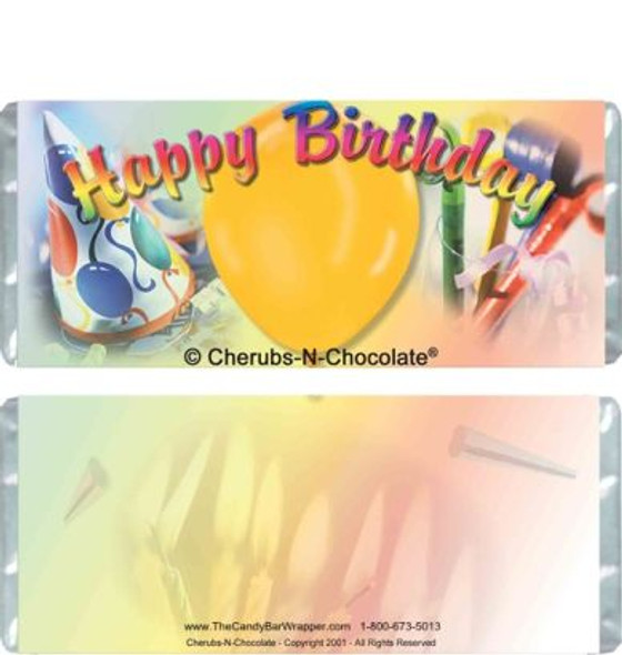 Birthday Colors Candy Bars