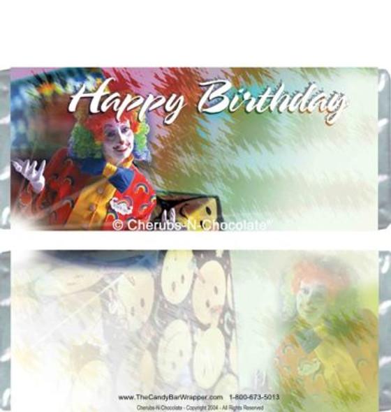 Birthday Clown Candy Bars