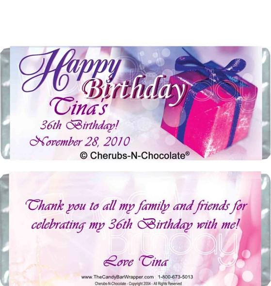 Birthday Bliss Candy Bars Sample