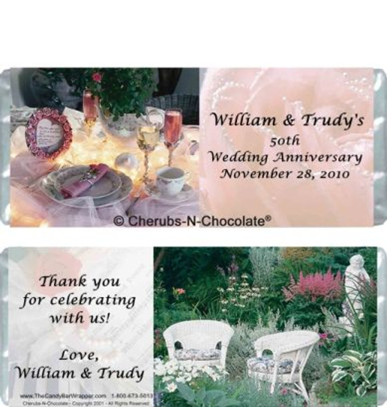 Anniversary Personalized Candy Bars