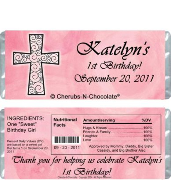 Religious Girl Candy Bars Sample