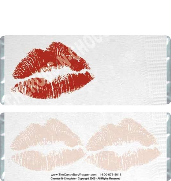 Lips on a Napkin Candy Bars