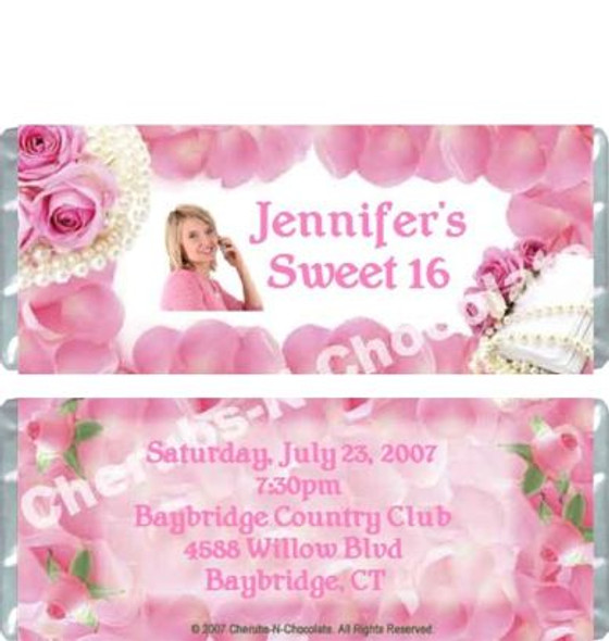 Sweet Sixteen Personalized Candy Bars