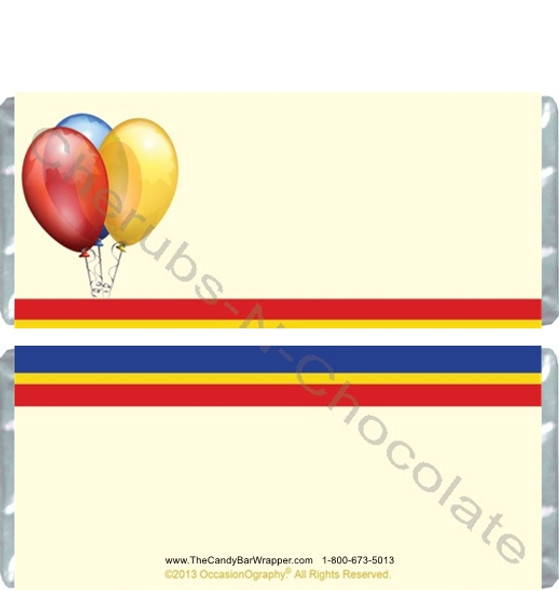 Balloons and Stripes Candy Wrappers