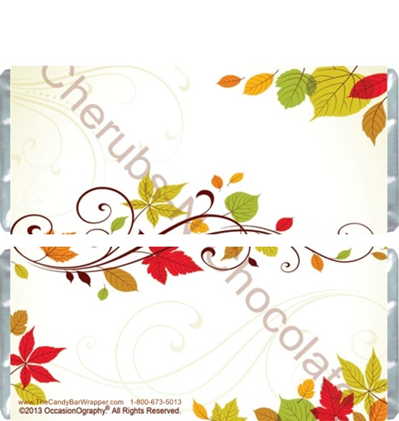 Autumn Leaves Candy Wrappers