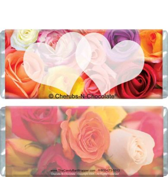 Color My Heart Wedding Candy Bars