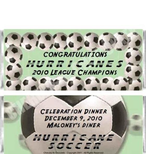 Soccer Candy Bars Sample