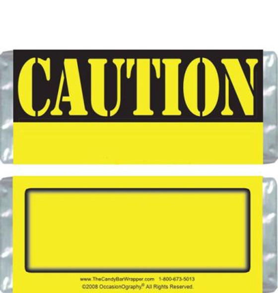Caution Candy Bars Blank