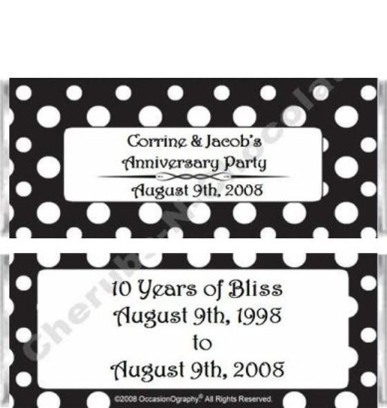 Black and White Polka Dots Candy Bars Sample