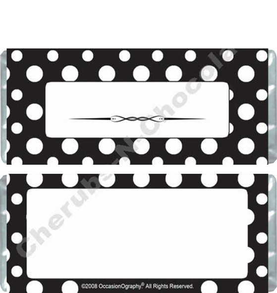 Black and White Polka Dots Candy Bars