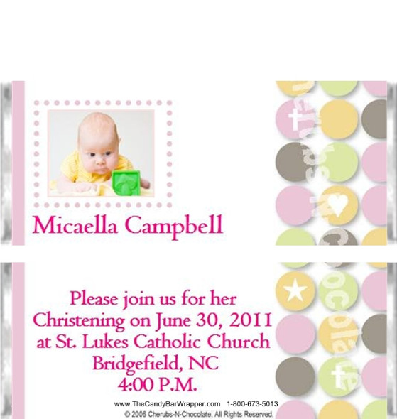 Baptism Personalized Candy Bars
