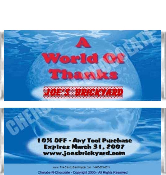 World of Thanks Candy Bars Sample