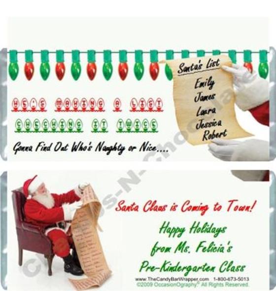 Santa's List Candy Bars