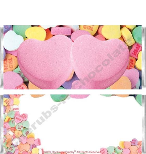 Conversation Hearts Candy Bars