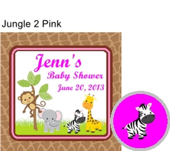 Jungle 2 Pink Hershey Kiss Pillow Pack