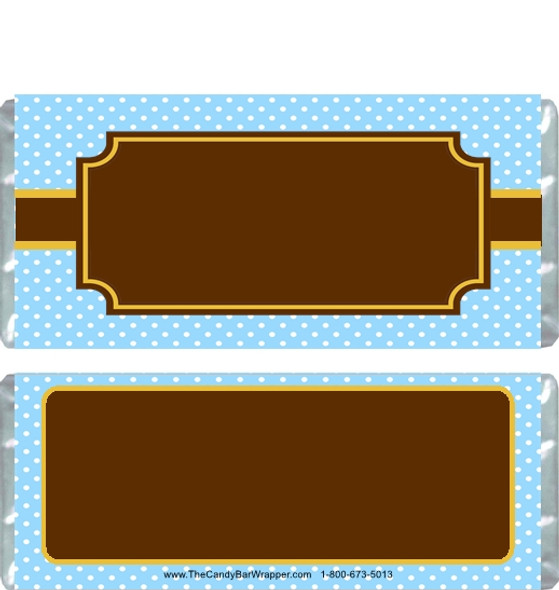 Brown and Blue Candy Wrappers Blank