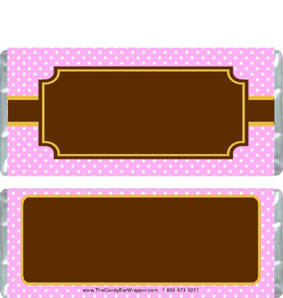 Brown and Pink Baby Shower Candy Wrappers
