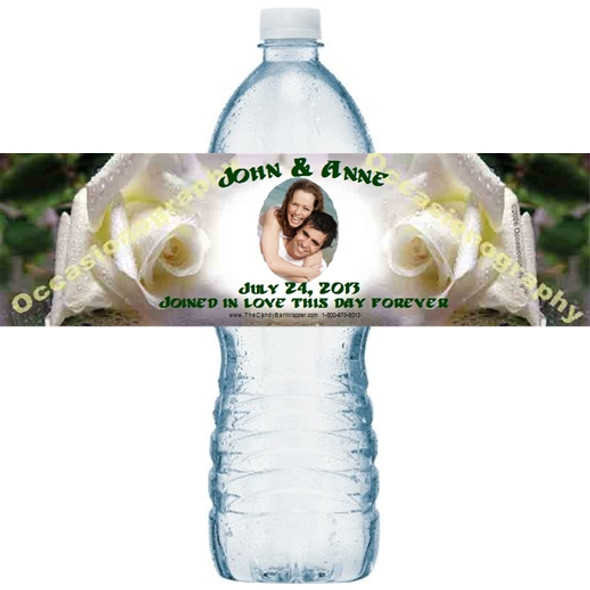 White Roses Water Bottle Labels
