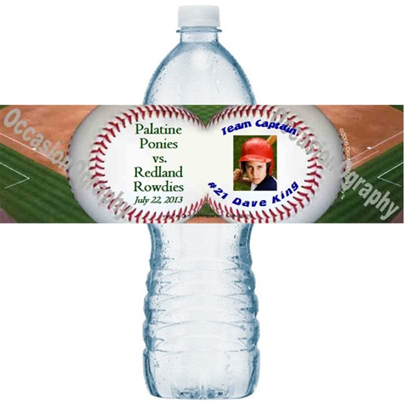 Baseball Water Bottle Labels