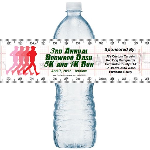Fitness Water Bottle Labels