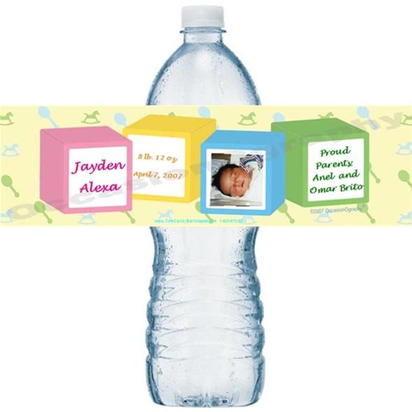 Baby Blocks Water Bottle Labels